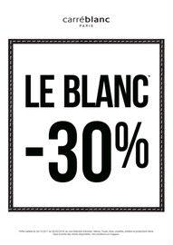 Catalogue Carré Blanc en cours, LE BLANC -30%, Page 1